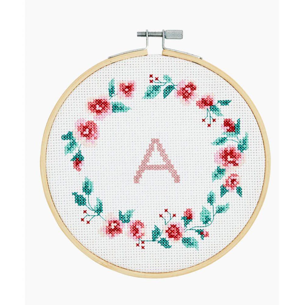 Welp DMC Borduurpakket Wreath - kruissteek - Iris Borduurt YO-91
