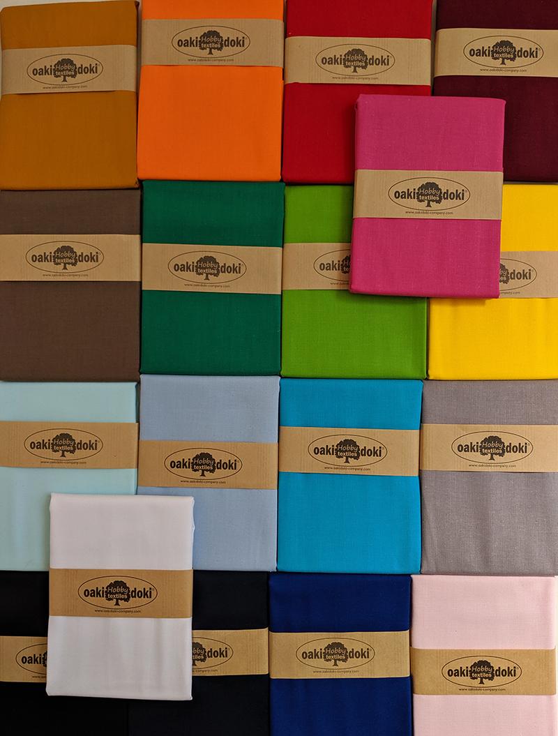 oaki doki stof uni kleuren