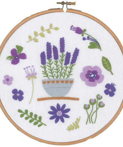 Vervaco borduurpakket lavendel