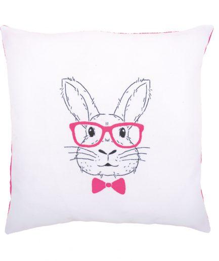 Vervaco borduurpakket kussen konijn