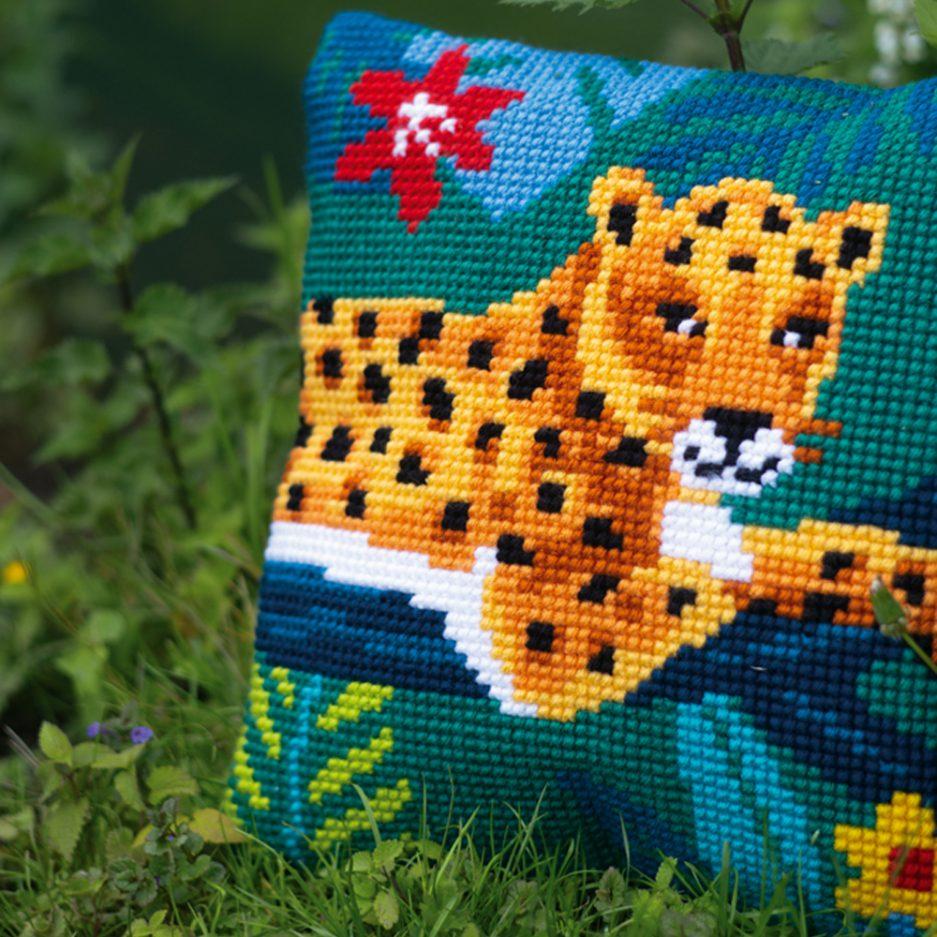 Vervaco borduurpakket luipaard