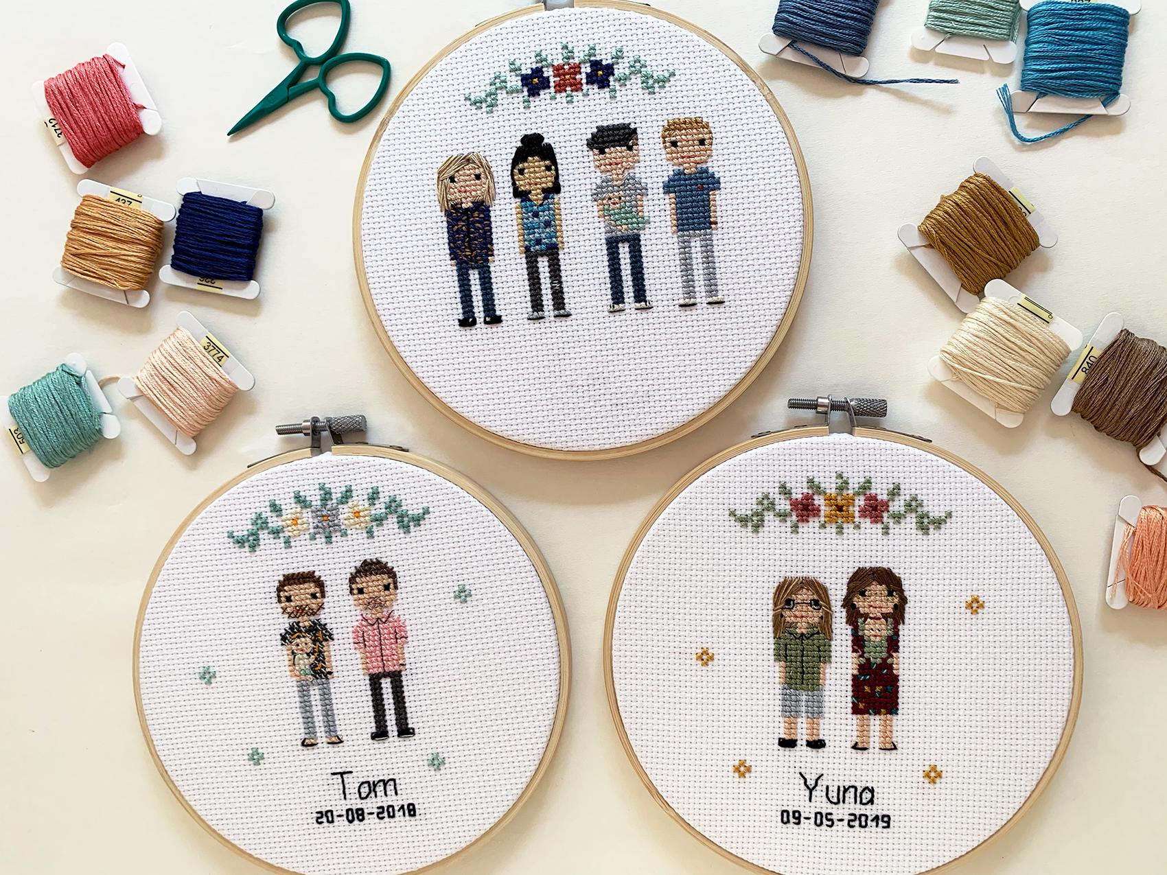 familieportret laten borduren