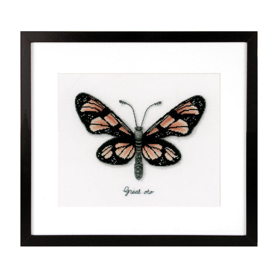 Vervaco borduurpakket oranje vlinder