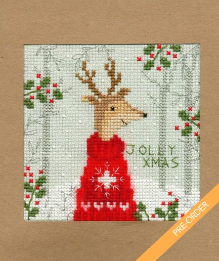 Bothy threads jolly xmas kaart borduren