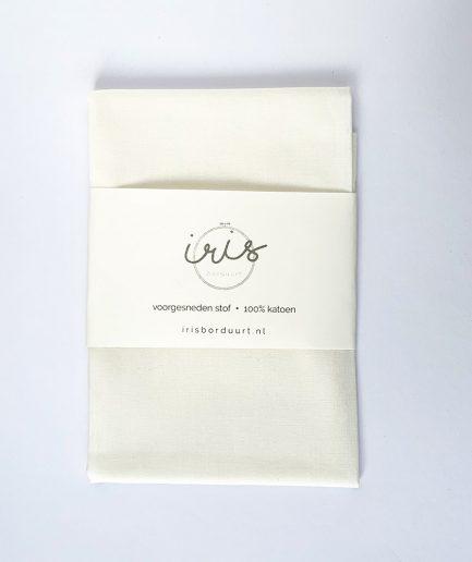 borduren op stof katoen wit