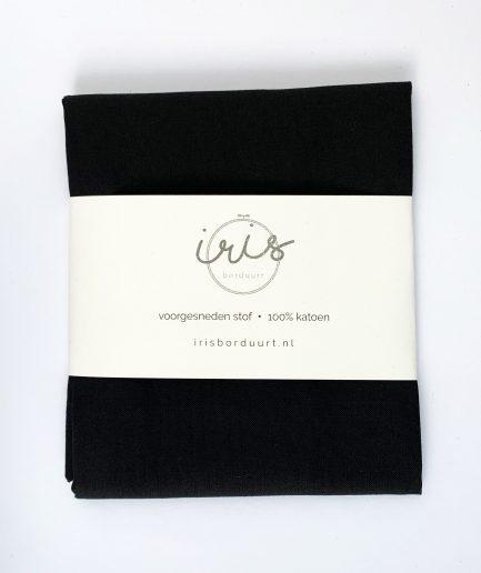 borduren op stof zwart katoen