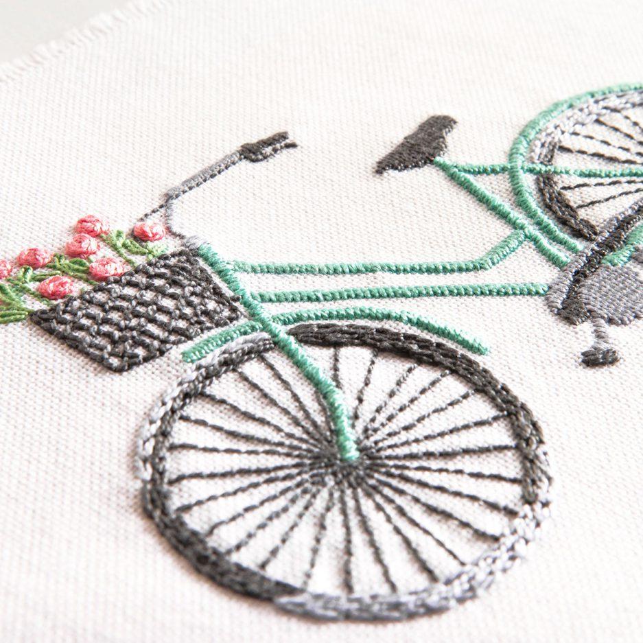 borduurpakket dmc fiets