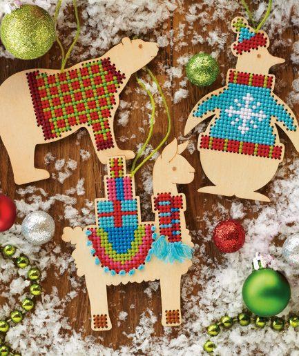 borduurpakket kerstboomhangers