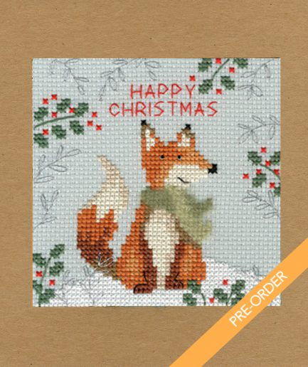 happy christmas kaart borduren preorder