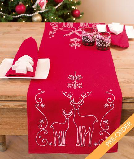 kerst tafelloper borduren pre order