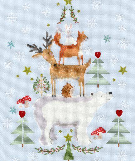 kerstmis borduurpakket