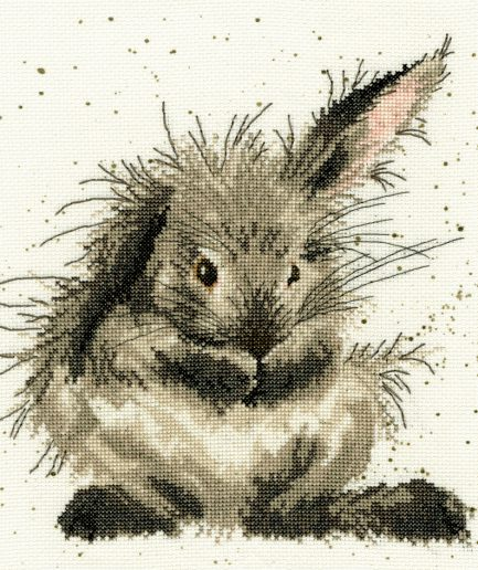 wassend konijn borduurpakket