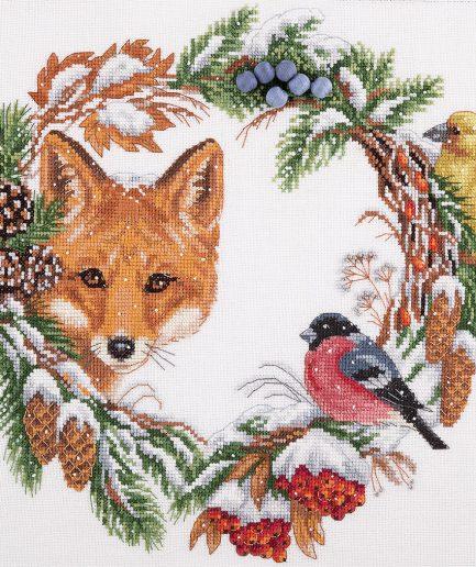 PANNA winterkrans borduren