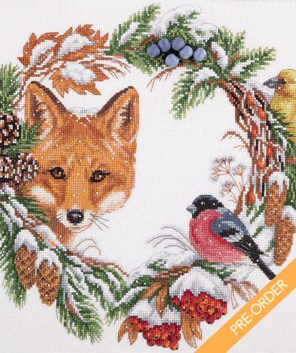 winter krans borduren preorder