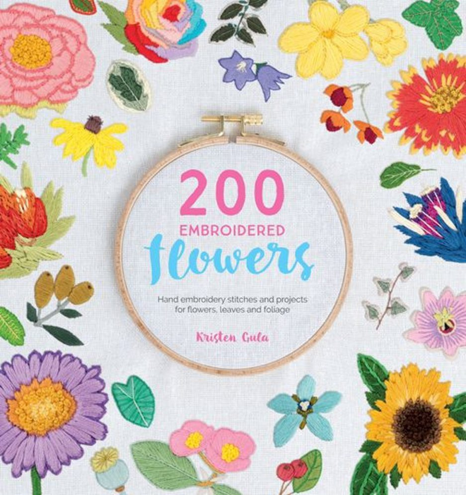 200 embroidered flowers