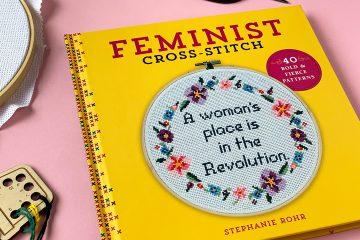 feminist cross stitch boek met kruissteekpatronen