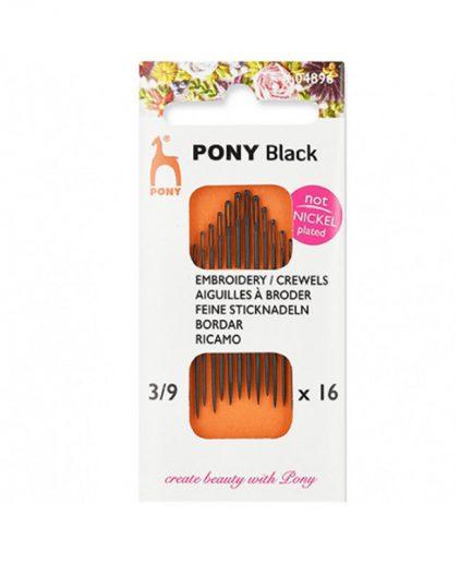 nikkelvrij naalden pony black