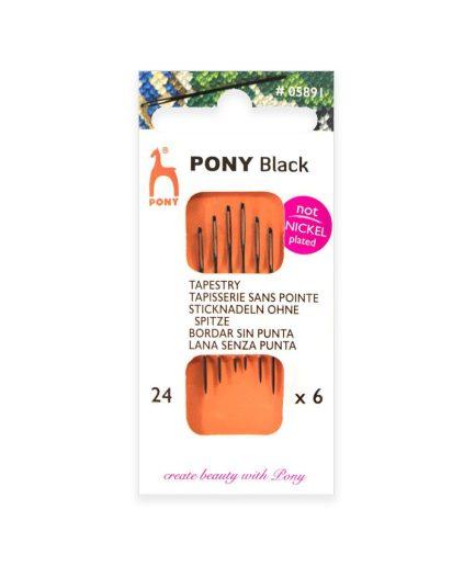 pony black maat 24 borduurnaald