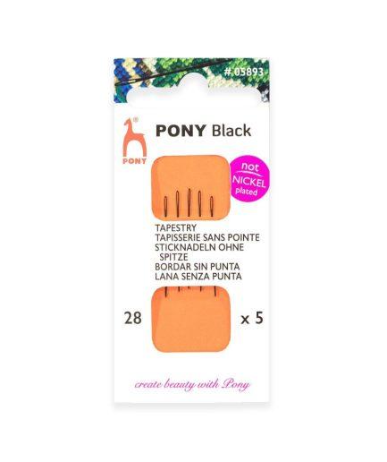 pony black maat 28 borduurnaald
