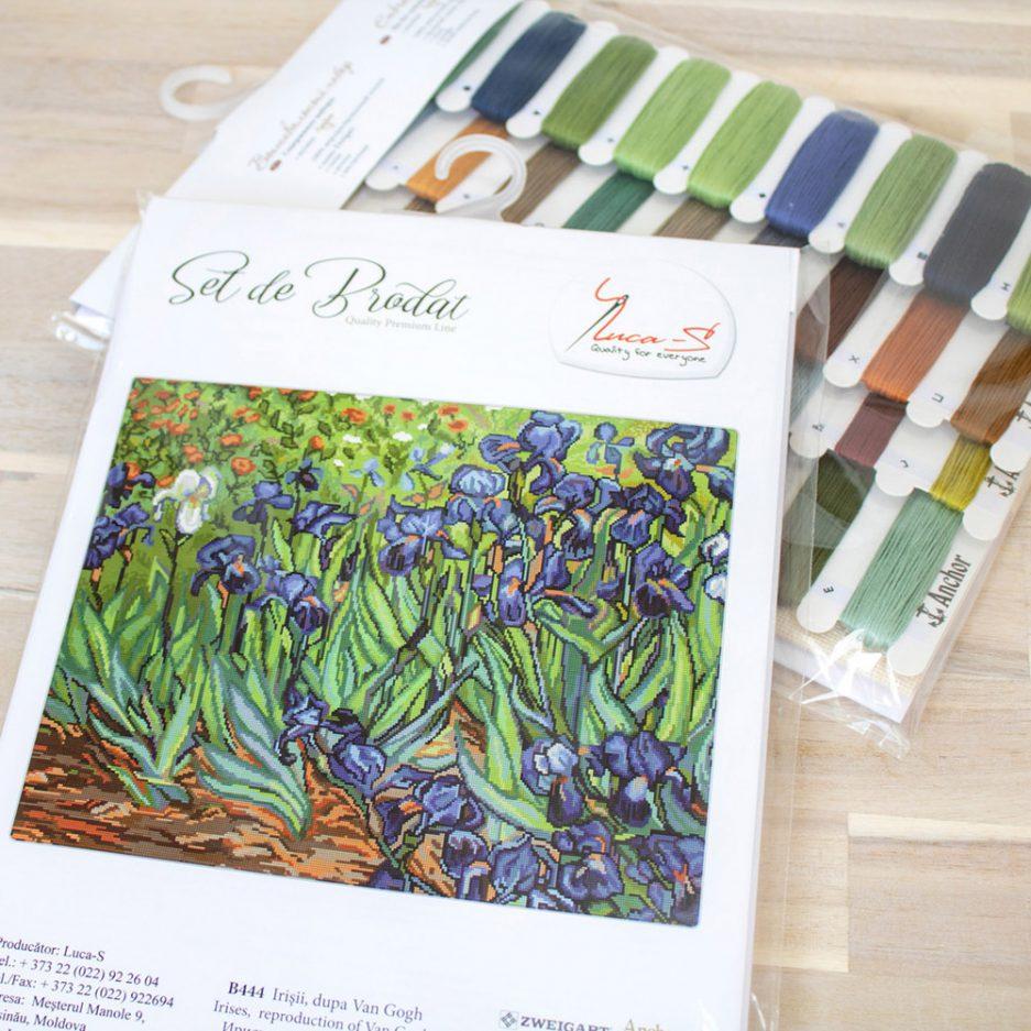 van gogh irissen borduurpakket