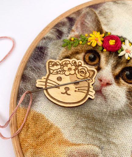 hippie kitty naaldmagneet