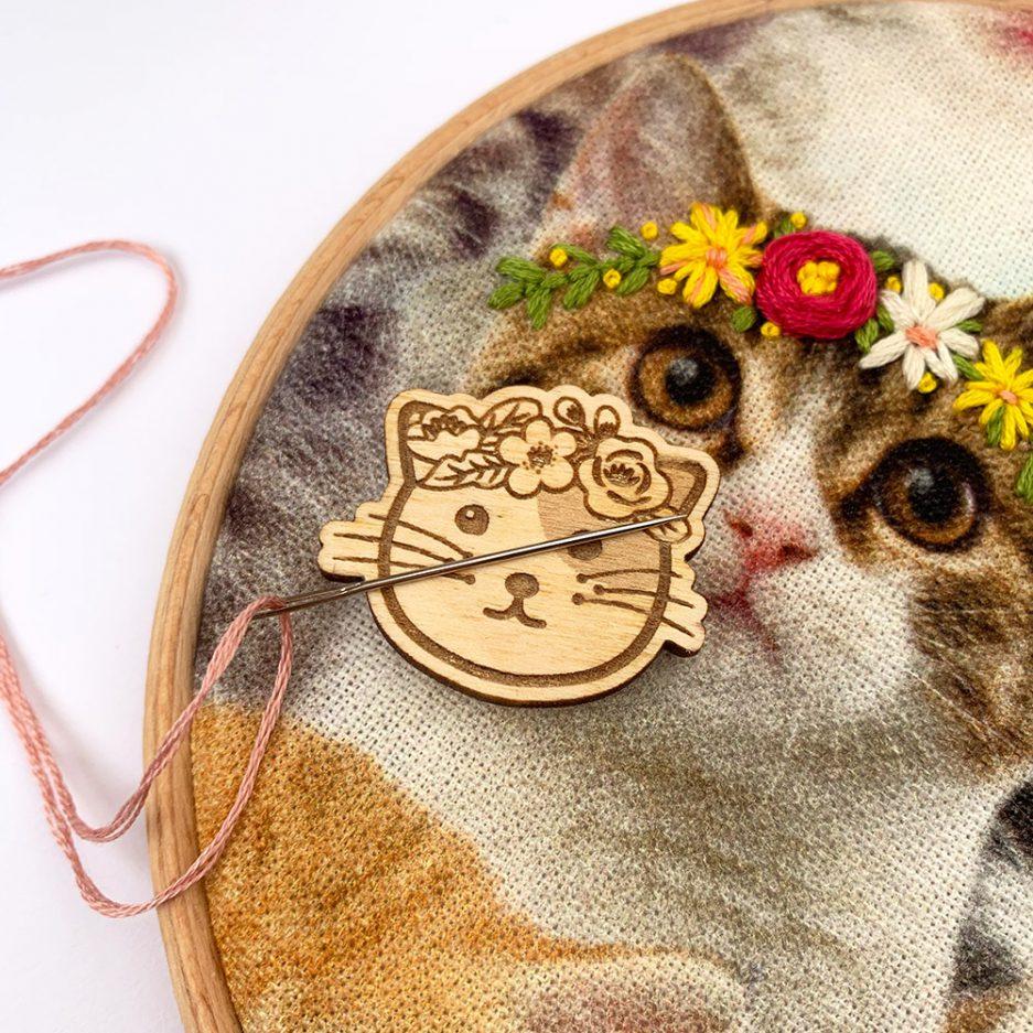 hippie kitty naaldmagneet
