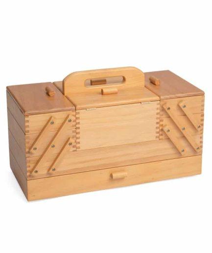 houten naaibox vintage look
