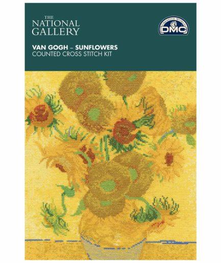 kunstwerk zonnebloemen borduurpakket