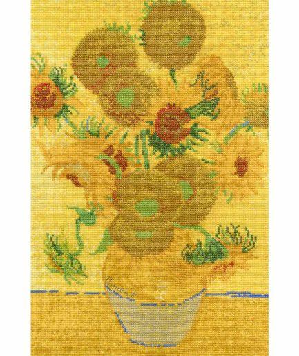 van gogh zonnebloemen borduurpakket