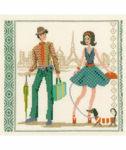 vervaco borduurpakket vintage in parijs