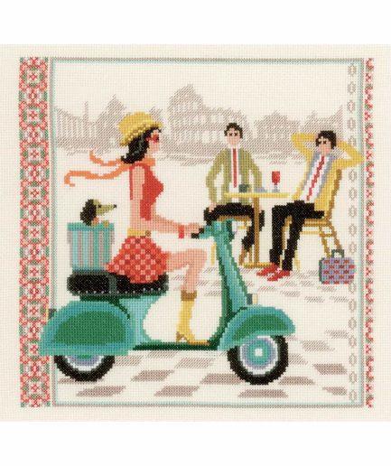vervaco borduurpakket vintage in rome