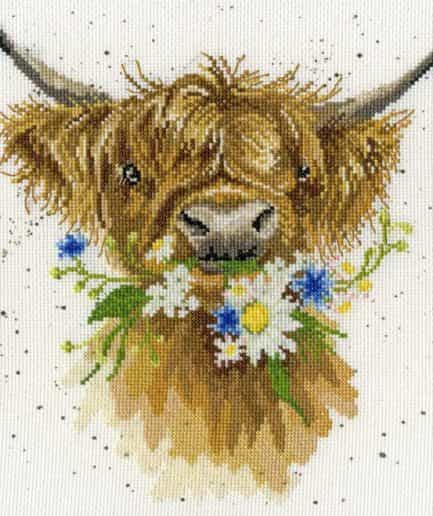 Bothy Threads borduurpakket daisy coo
