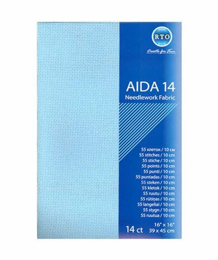 aida lichtblauw 14 count