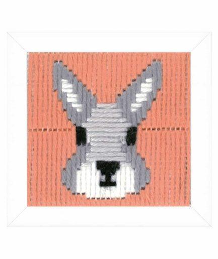 borduurpakket konijn voor kinderen
