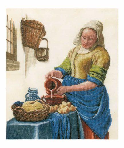 borduurpakket melkmeisje lanarte