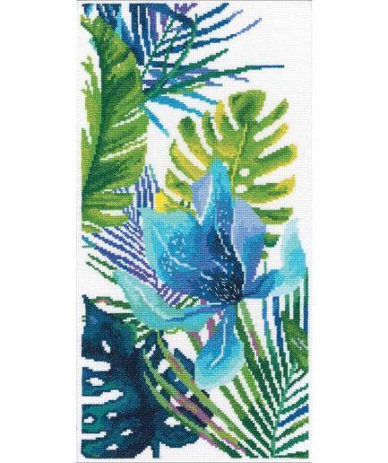 borduurpakket monstera jungle planten kruissteek
