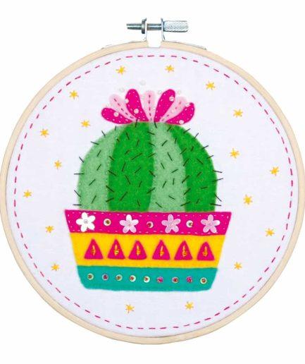 borduurpakket voor kinderen cactus