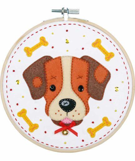 borduurpakket voor kinderen hondje