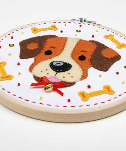 hondje borduurpakket kinderen