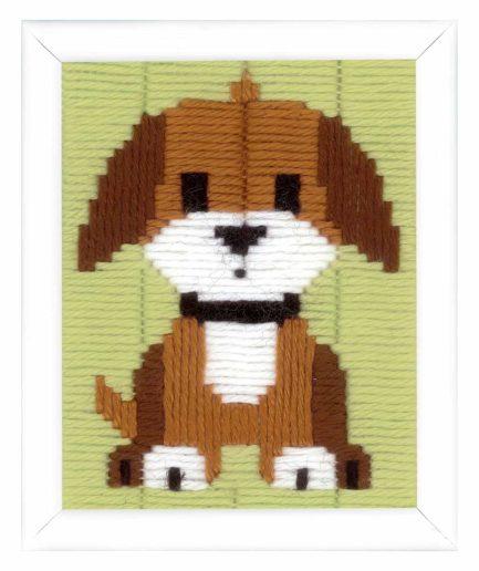 hondje borduurpakket voor kinderen