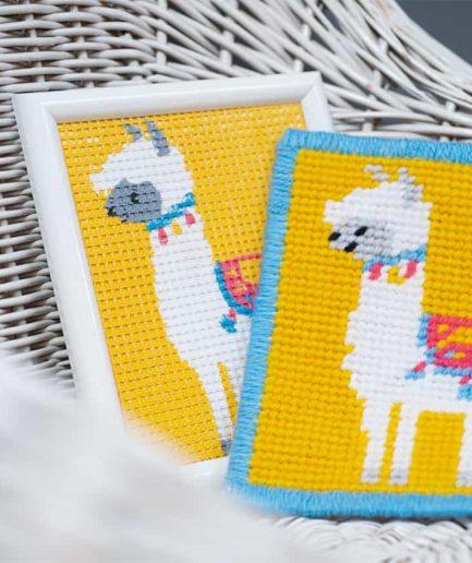 lama borduurpakket voor kinderen