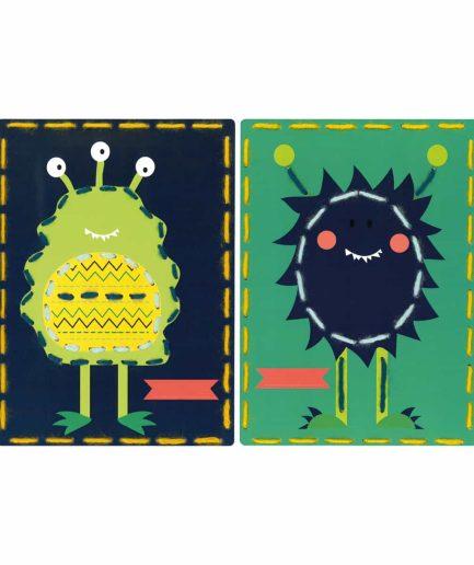 monsters borduurpakket voor kinderen