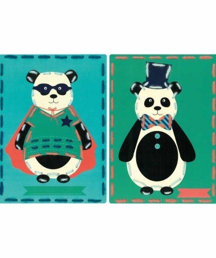panda borduurpakket voor kinderen