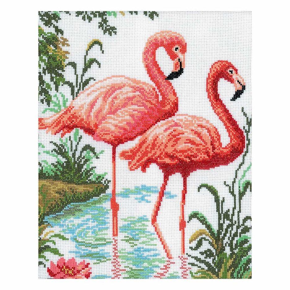borduurpakket flamingo