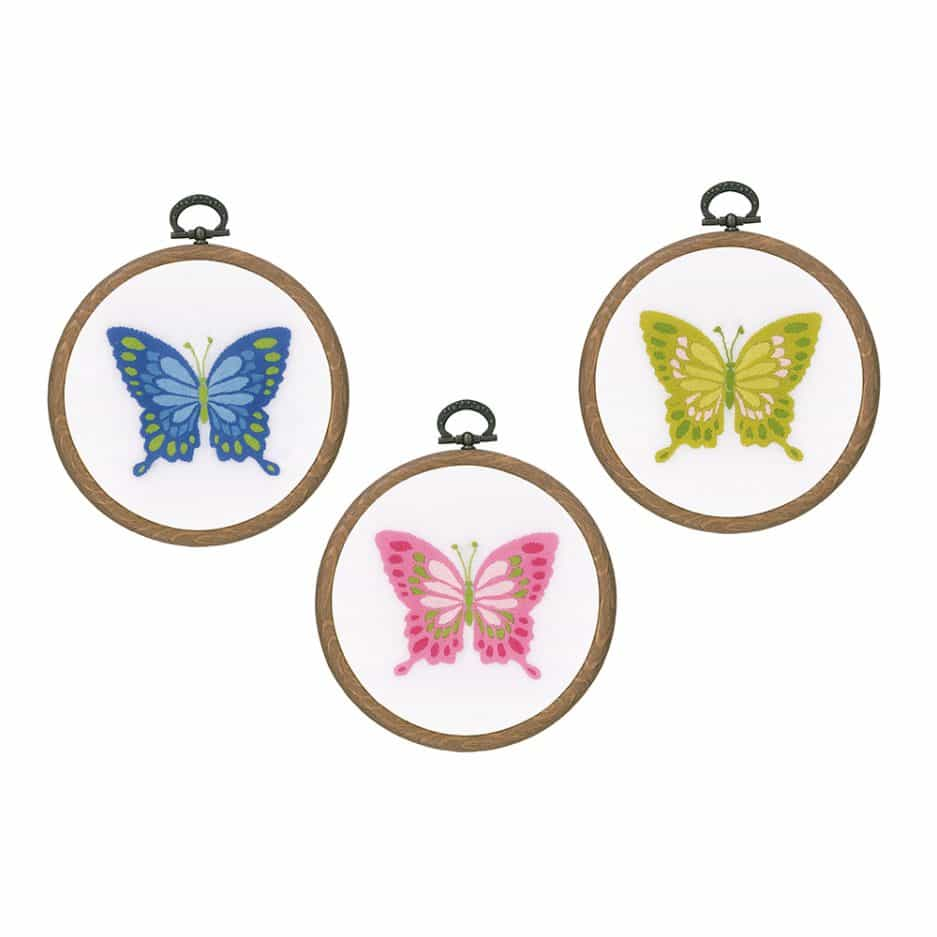 Vervaco borduurpakket vlinders