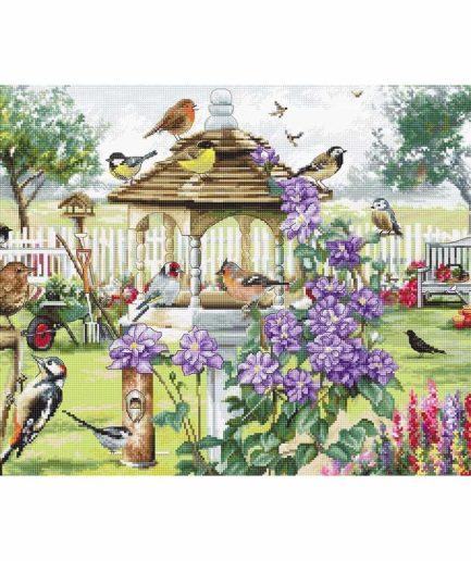 borduurpakket vogels en bloemen