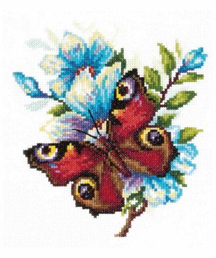 Magic Needle dagpauwoog vlinder borduurpakket