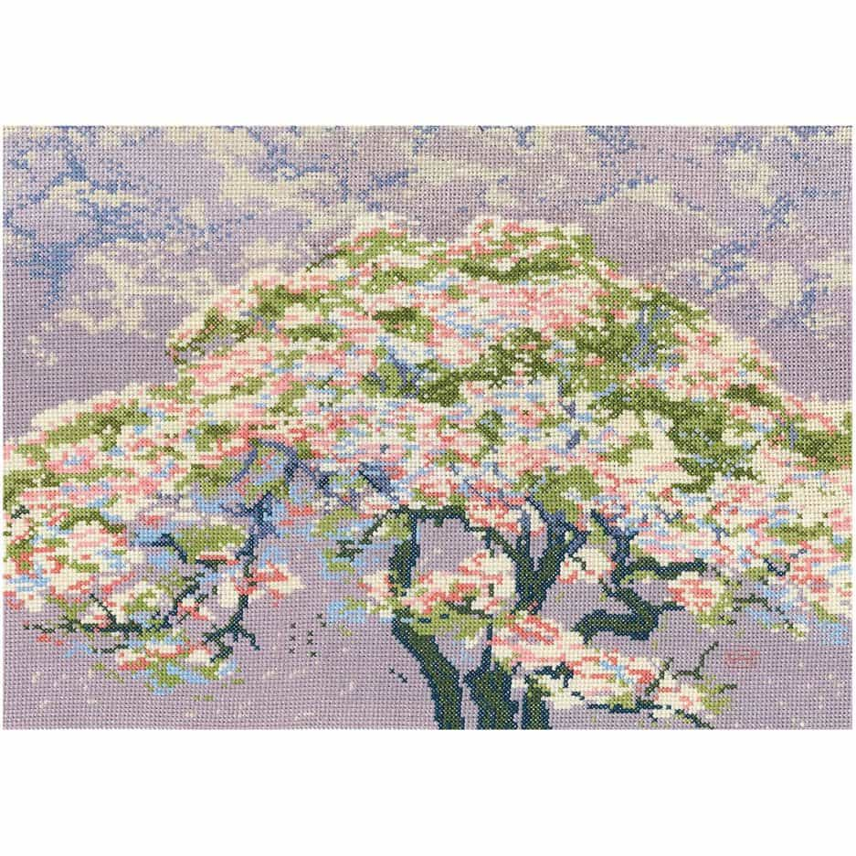 dmc borduurpakket cherry blossom kersenbloesem