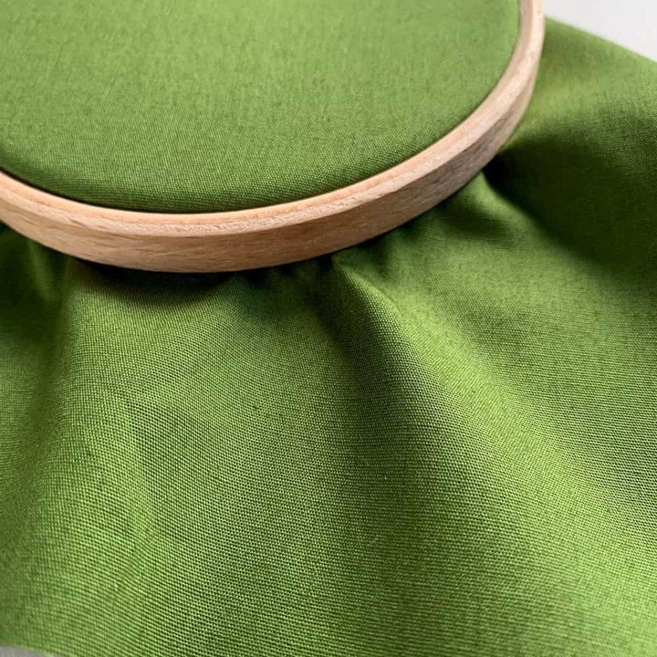 groene katoenen stof