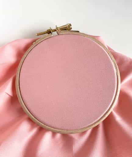 Katoenen borduurstof: roze
